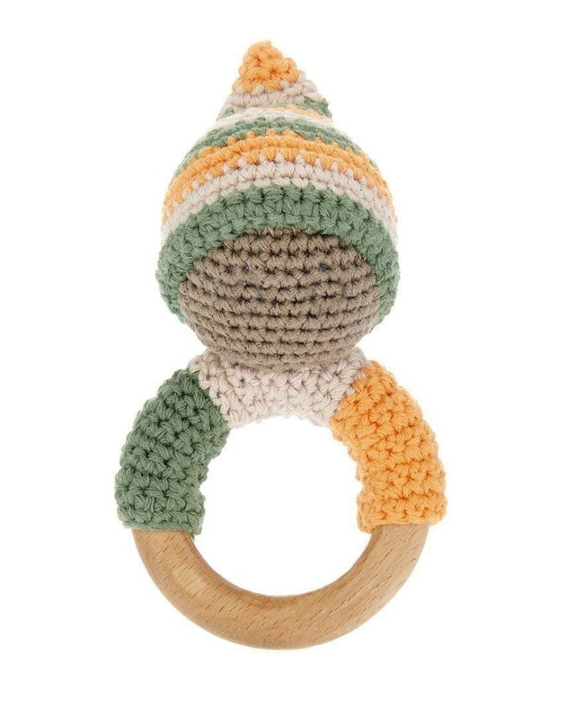 organic wooden teething ring made from natural materials