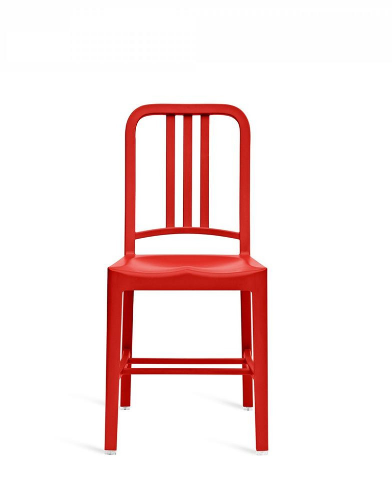 111 Navy Recycled Chair - Red