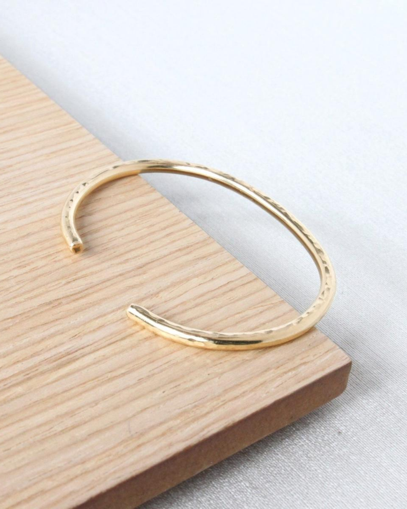 minimalist cuff made from recycled gold