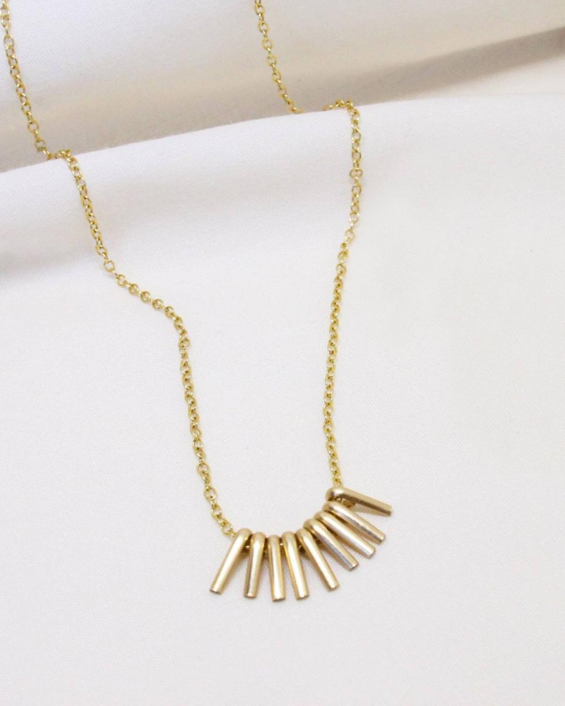Sara Patino recycled gold necklace