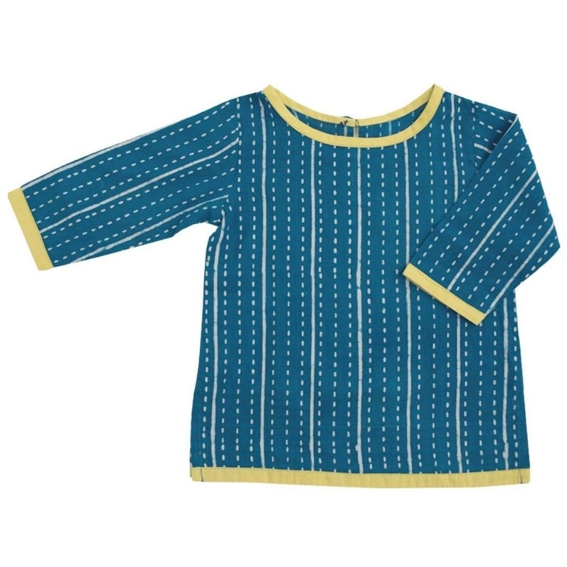 fairly made with 100% natural fabrics baby stripe tunic