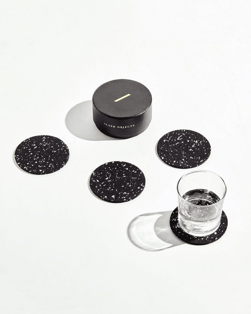 Slash Objects Recycled Rubber Coasters