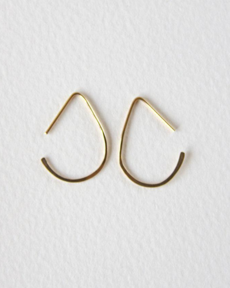 Salt and Still minimalist recycled gold earrings