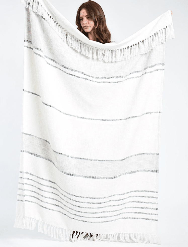 Bloom And Give Fair Trade Throw Blanket