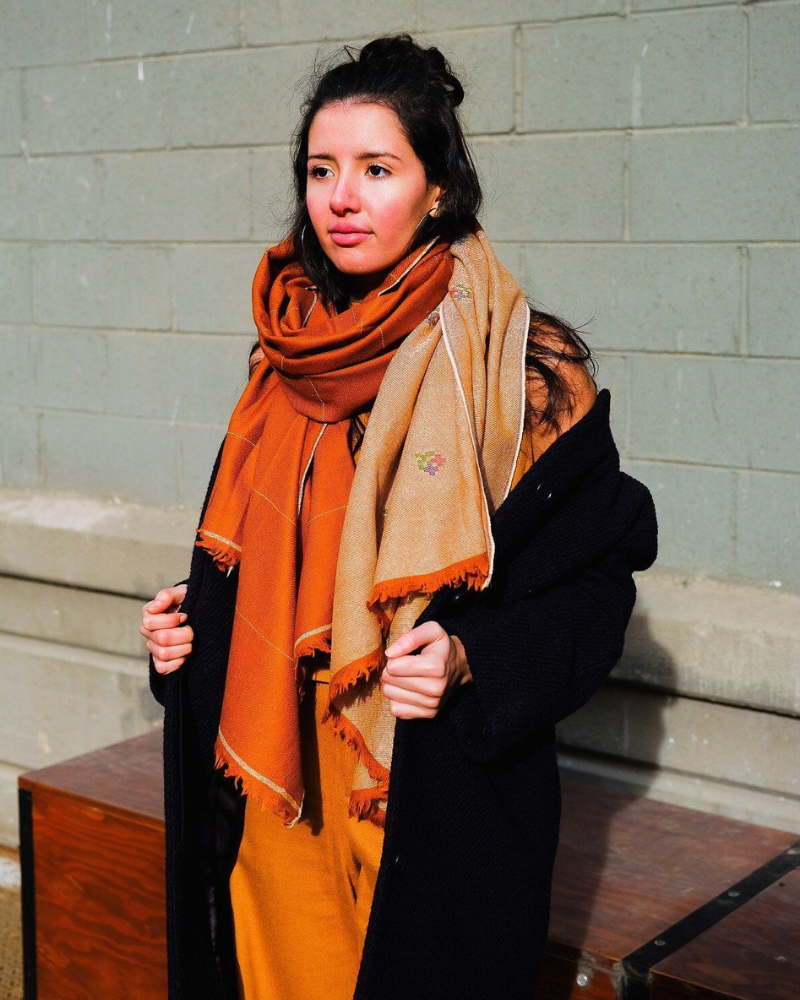 Sustainable and fair trade scarf gift from Soil to Studio