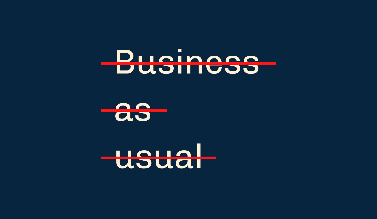 Copy Of Business As Usual