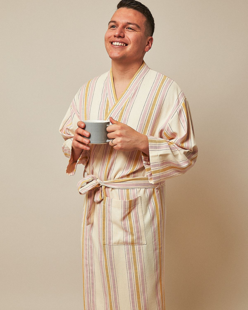 Fair trade cozy gift - handwoven robe from AnatoliCO