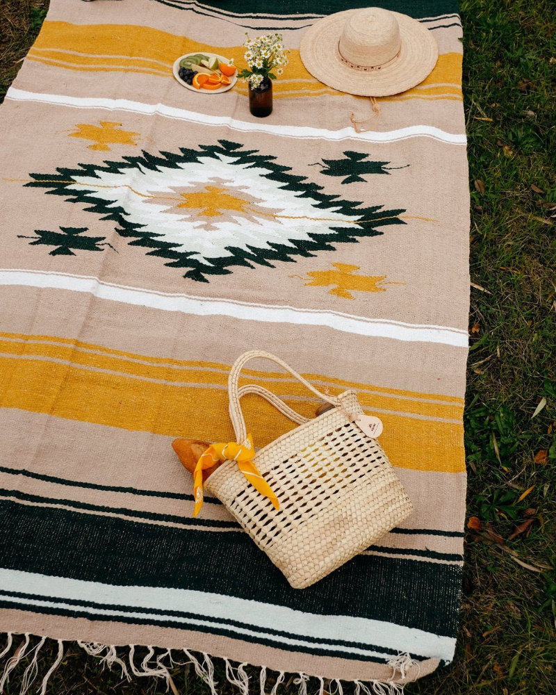 Eco-friendly cozy throw and picnic blanket