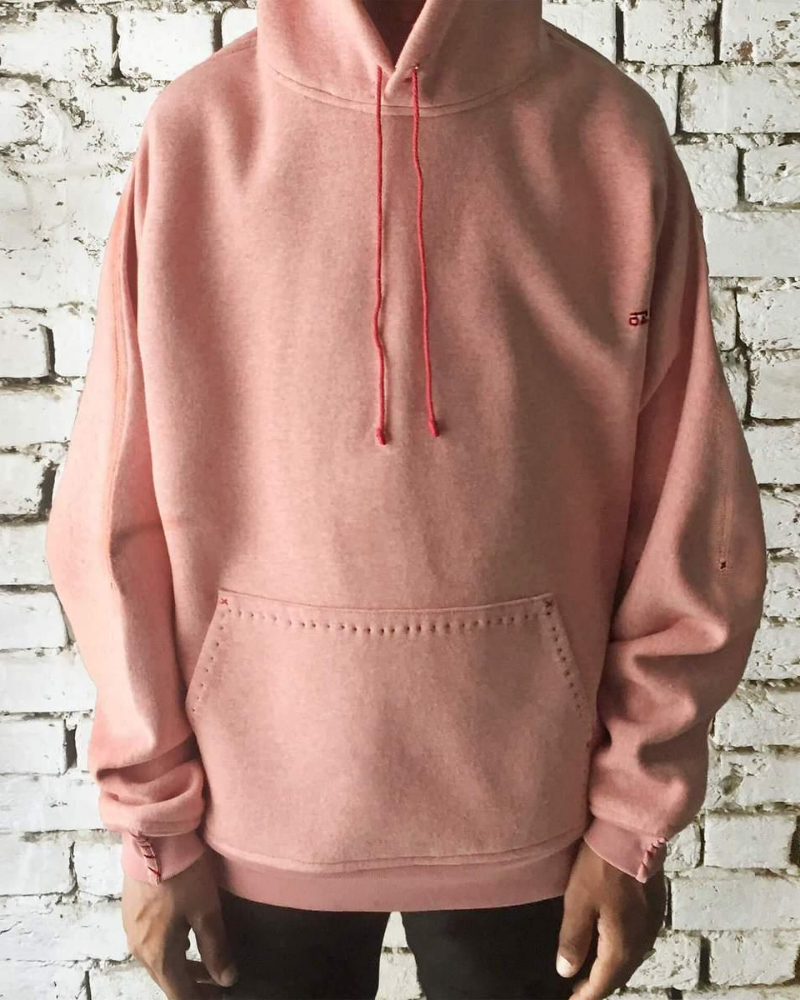 Chai pink upcycled cotton hoodie