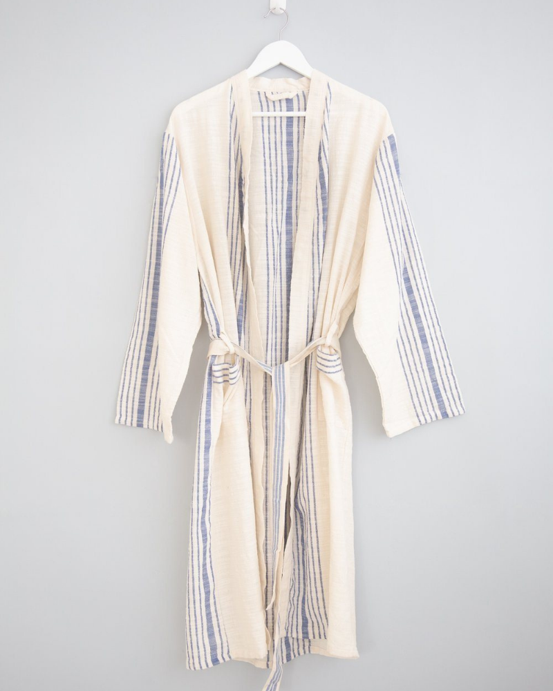 Turkish cotton robe - fair trade gift for her