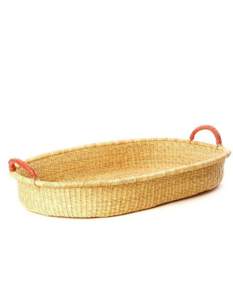 Natural elephant grass changing basket