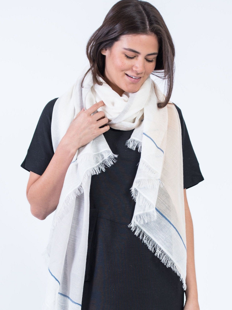 Eco-Friendly Hanukkah Gift - cotton and linen scarf