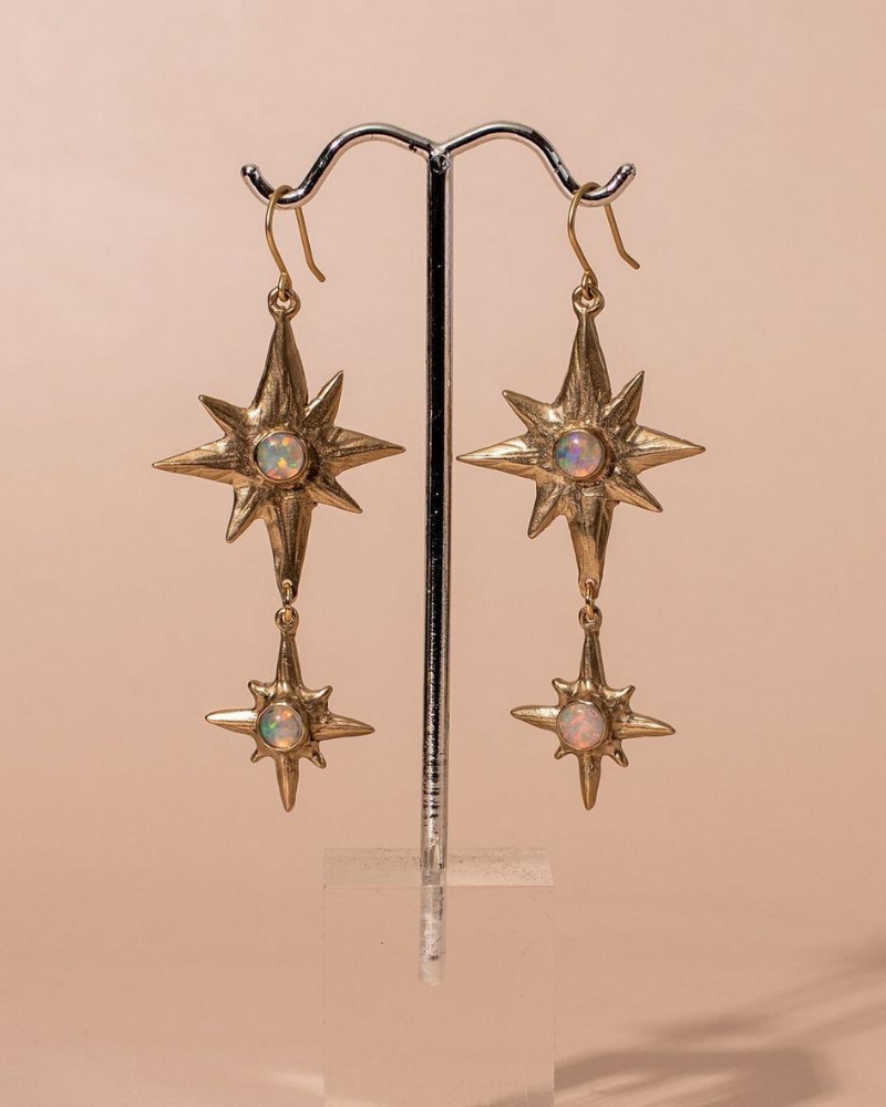 Ethical and Sustainable Gold Polaris Earrings