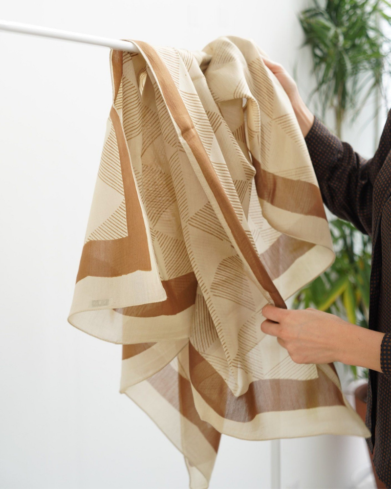 Dune Silk and Cotton Scarf