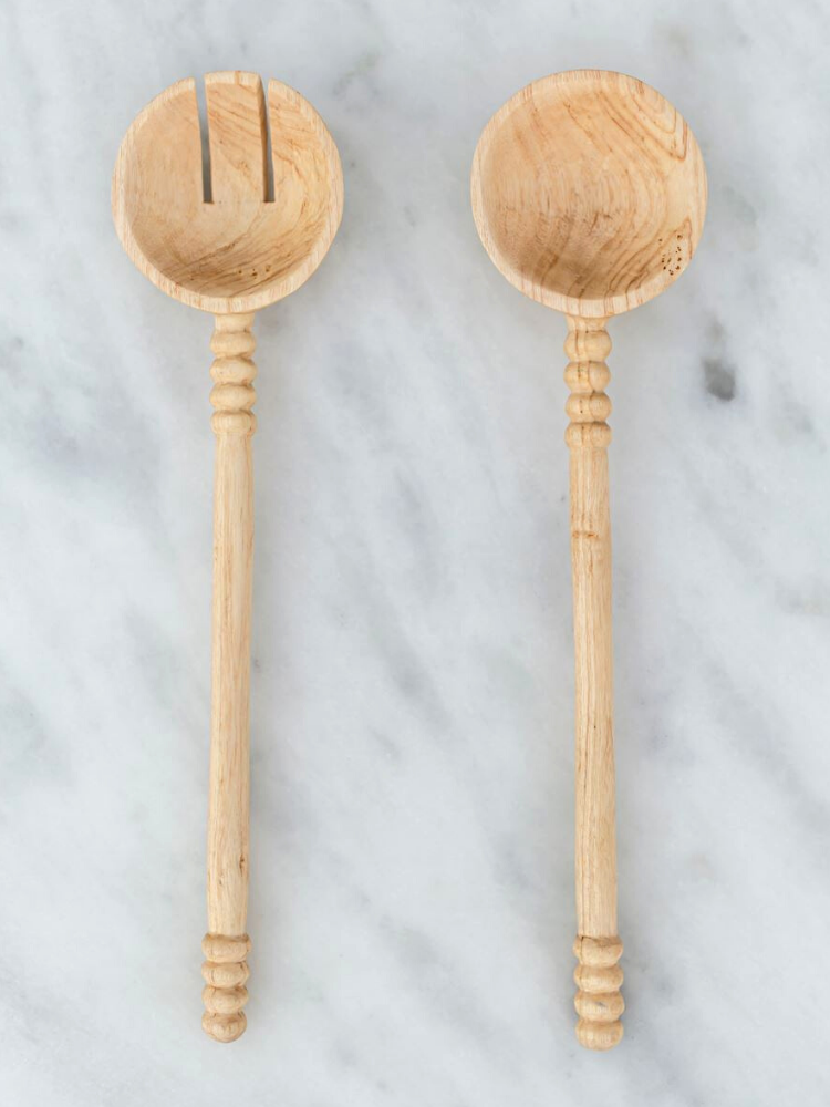 Wooden serving spoons: eco-friendly stocking stuffers