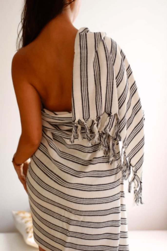 Woman wrapped in a towel