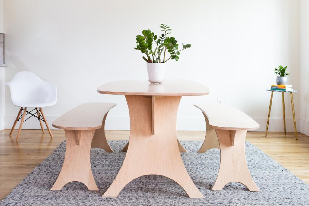 Simbly Dining Table Eco Friendly Maple FSC Certified Wood 1800x1800 3 1