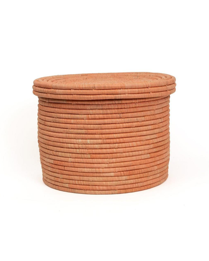 Peach Basket with lid