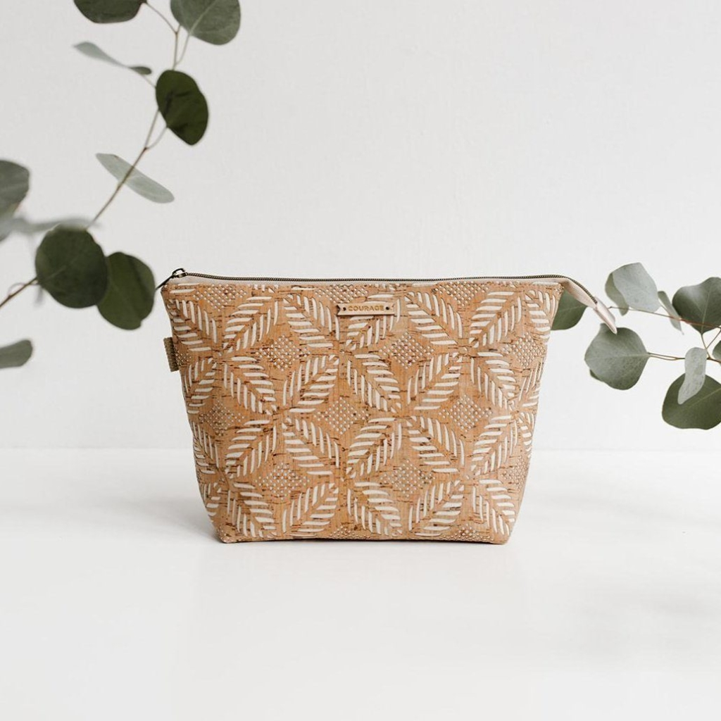 Cosmetic bag and eucalyptus