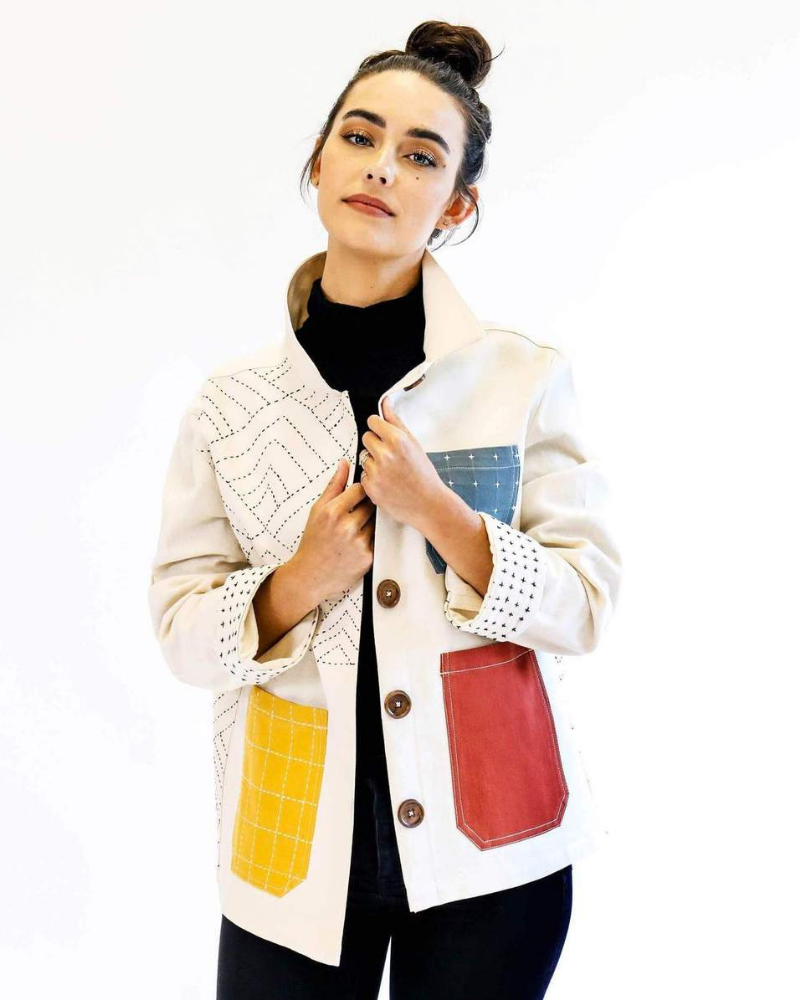 Chore Jacket with colorful pockets