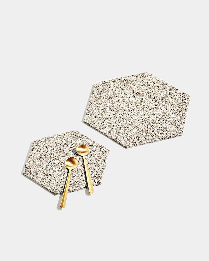 Hex Recycled Rubber Trivet Set Sand Kitchen And Dining Slash Objects Duo 473206 1500x