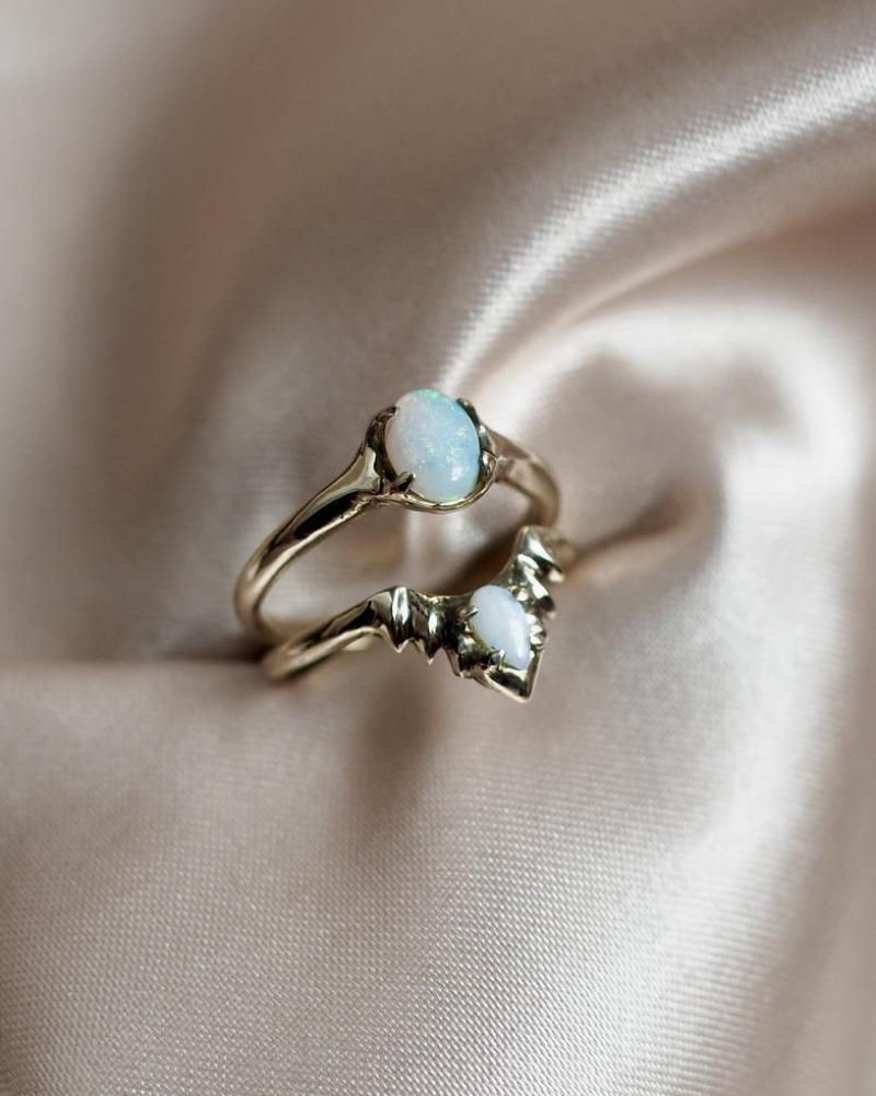 Opal Halo Stacking Ring Set available on MadeTrade.com