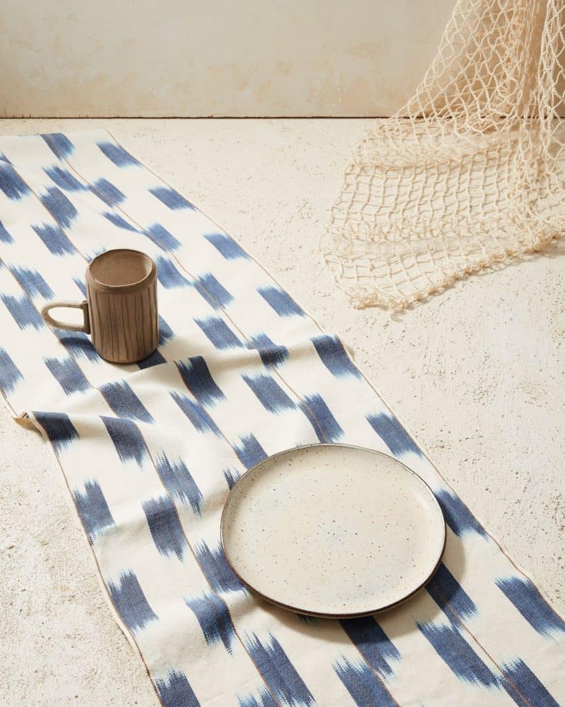 Minna Ikat Runner Indigo Kitchen Textiles Minna 642909 1500x 1