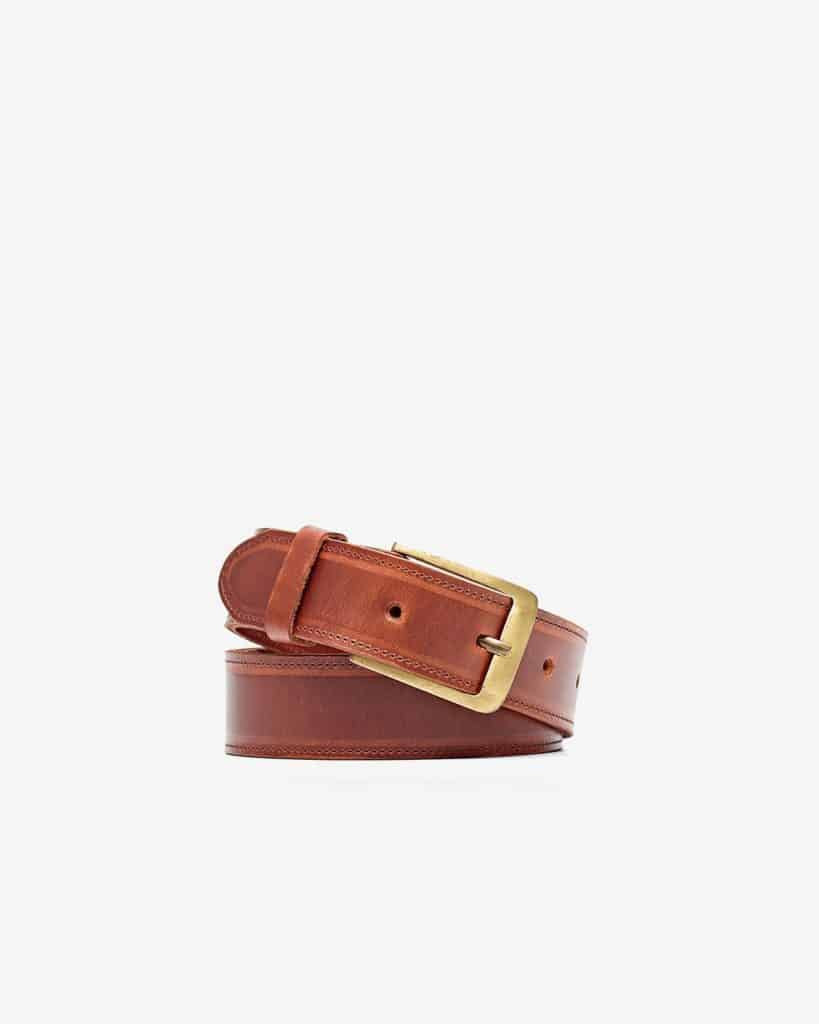 Nisolo Owen Belt Brandy Leather Belt - Ethical Gifts for Him