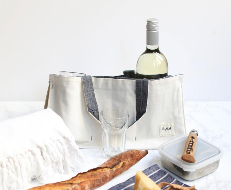 Organic Cotton Vin One Bottle Wine Tote Chambray Wine Tote Aplat 288613 768x.progressive
