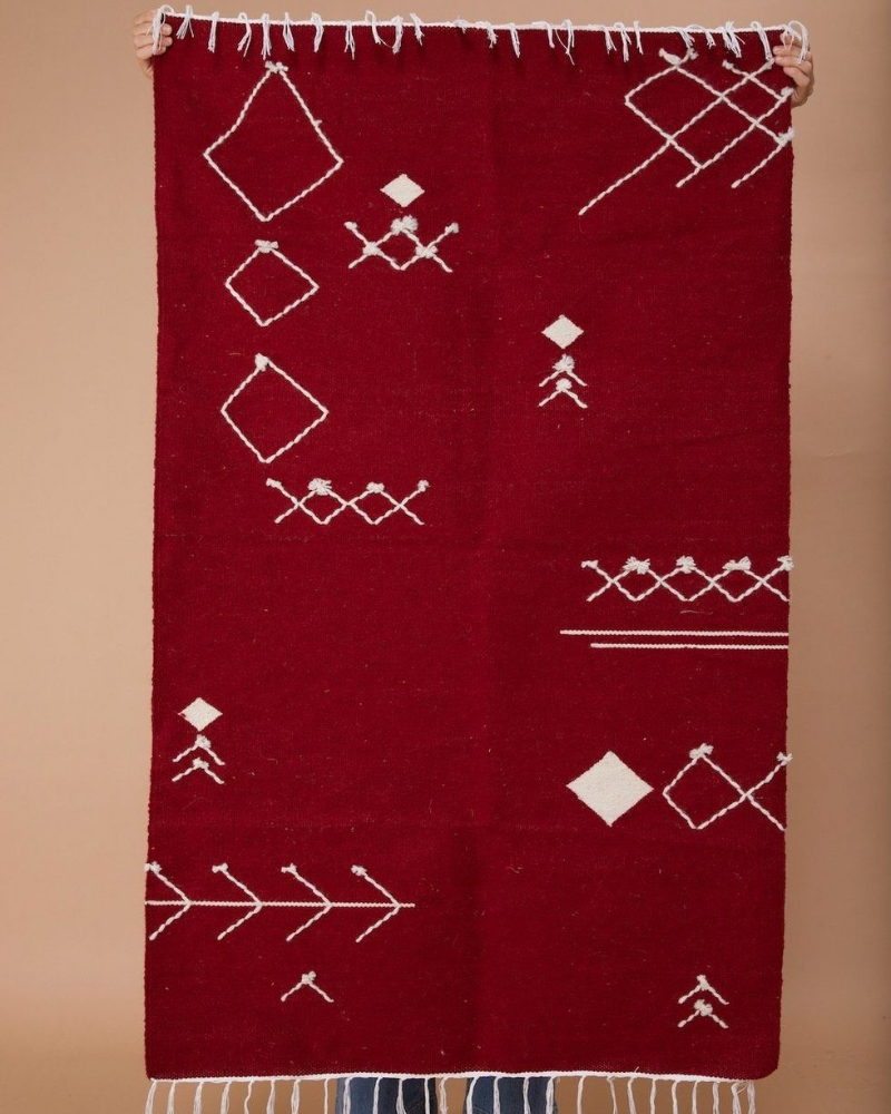 Scattered Stitch Wool Runner / Rug