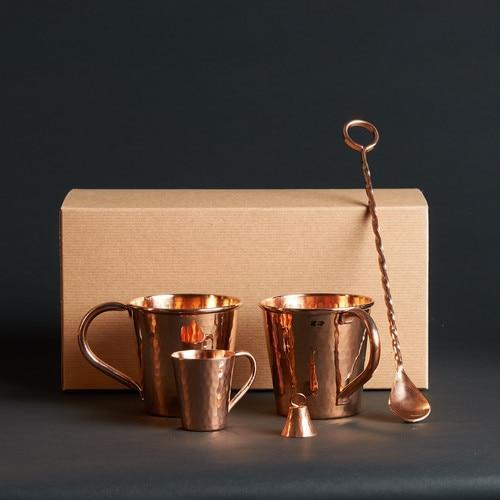 Sertodo Copper Moscow Mule Gift Set - Ethical Gift for Him