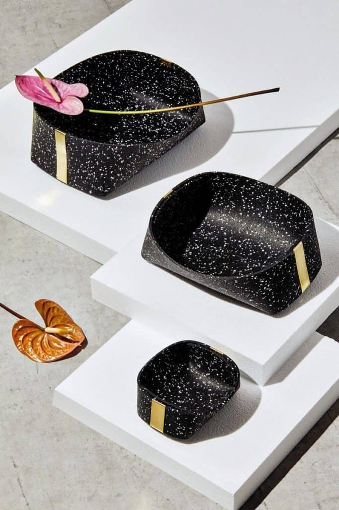 Slash Objects Rubber And Brass Baskets In Speckled Black Slash Objects 308726 1500x 1
