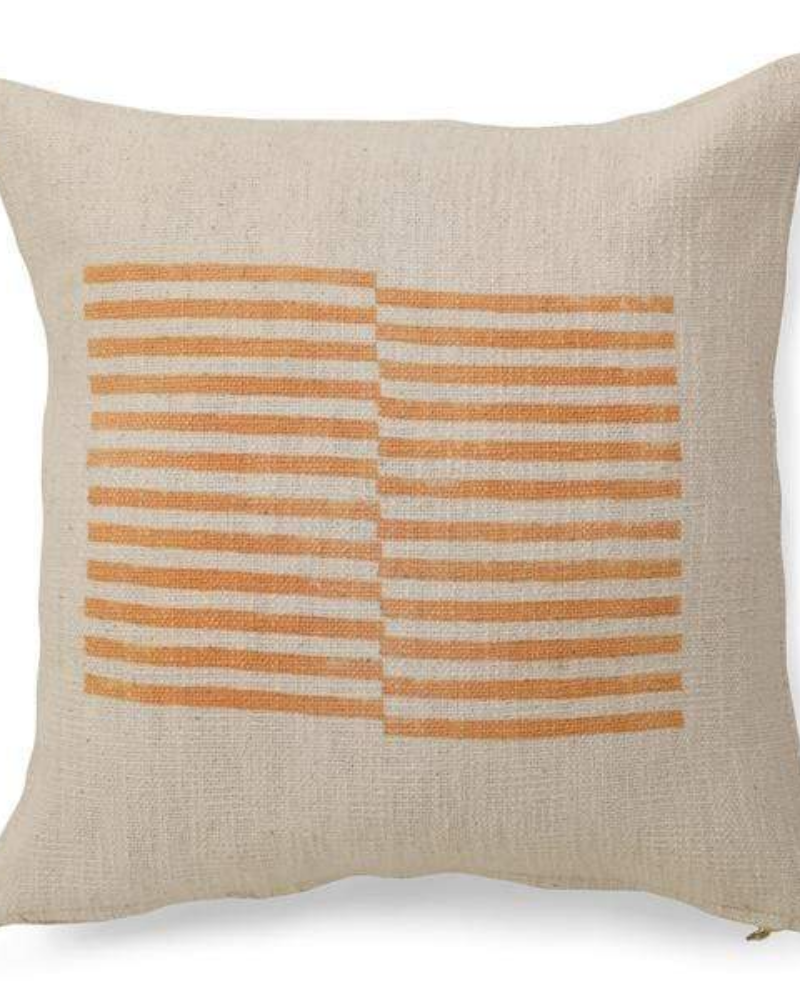 Stripe Throw Pillow Cover - Gold Earth