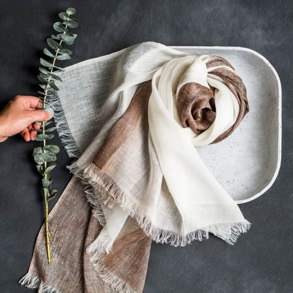 Studio Variously Mace Linen Scarf - Sustainable Gift for Him