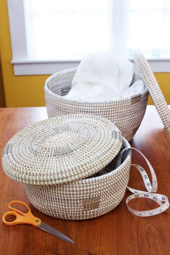 Swahili African Modern Set Of Two White Oval Nesting Lidded Baskets Swahili African Modern 444879 1500x 2