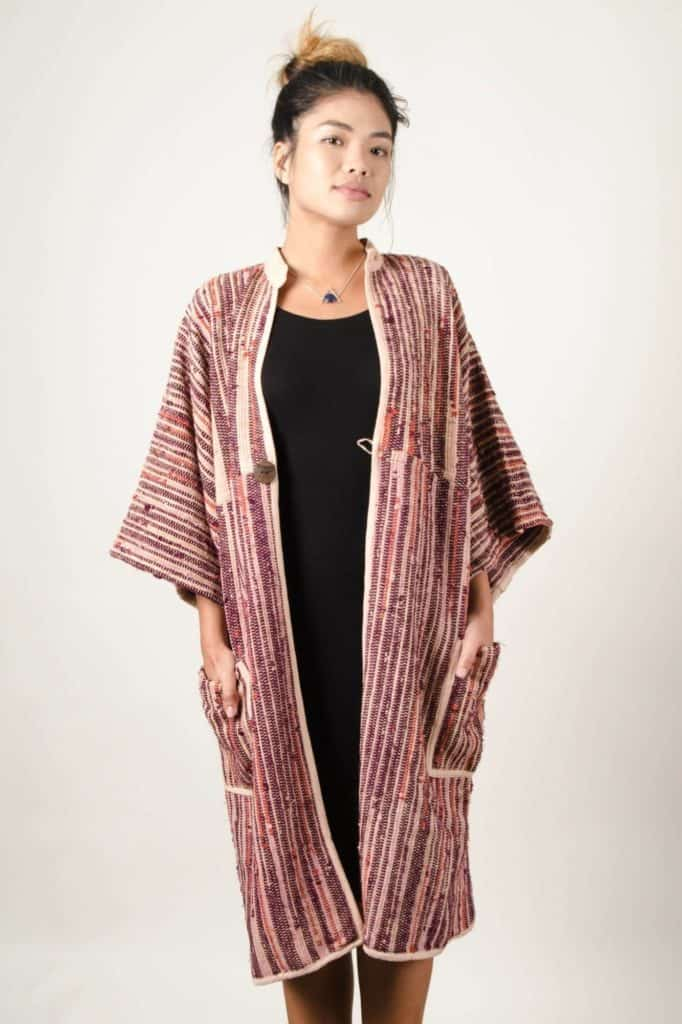 Tonle Cozy Jacket in Palm And Wine
